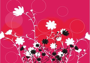 Flowers Circles Design - Free vector #153279