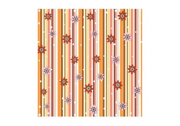 Flowers And Stripes Pattern - Free vector #153289