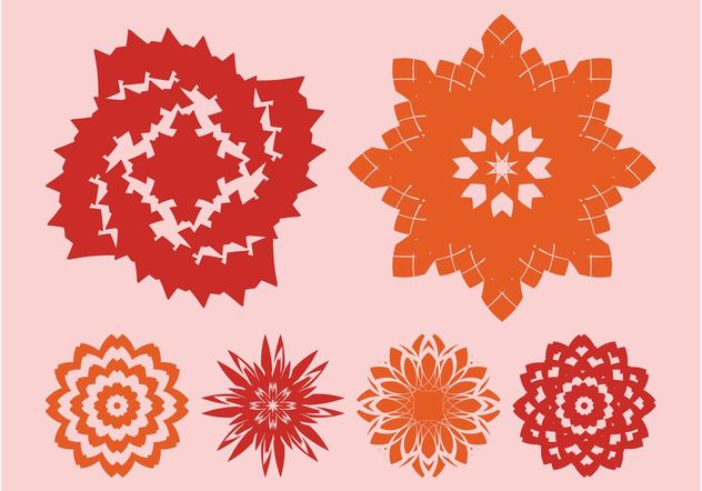 Flowers Icons Vectors - Free vector #153309