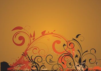 Gold Decoration Vector - vector gratuit #153409