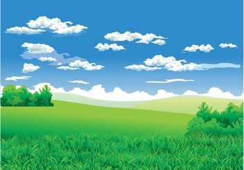 Landscape Background - vector gratuit #153479