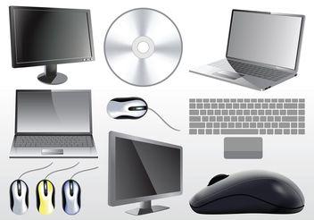 3D Computer Vectors - Free vector #153499