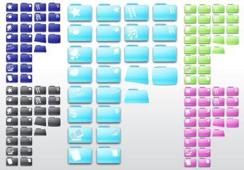 Computer Folders - Free vector #153629