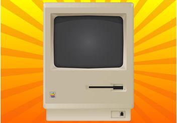 Vintage Mac - vector gratuit #153649