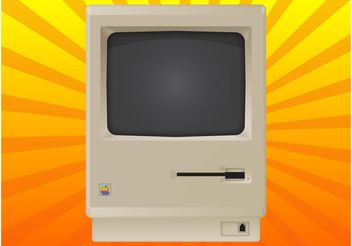 Vintage Mac - Free vector #153649