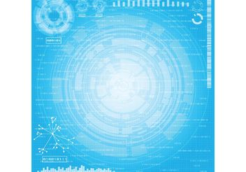 Technology Theme Background Vector - vector #153659 gratis
