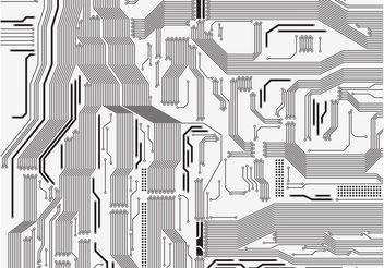 Circuit Board Vector - Kostenloses vector #153819