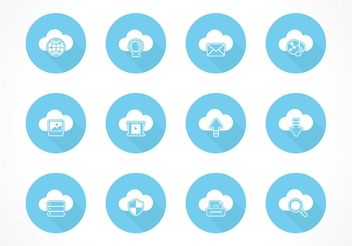 Free Cloud Computing Vector Icons - vector gratuit #153839