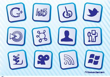 Free Social Media Icons - vector #153939 gratis