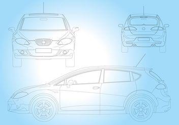 Seat Leon Car - vector gratuit #154069