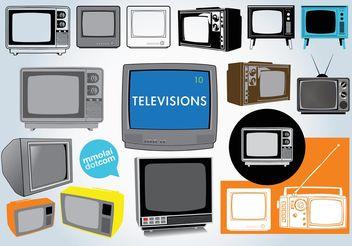 Free Television Vectors - бесплатный vector #154089