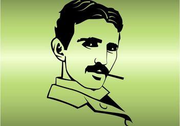 Tesla Portrait - vector gratuit #154319