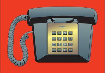 Telephone Vector - Free vector #154349