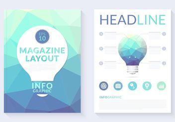 Free Abstract Polygonal Magazine Layout Vector - vector gratuit #154379