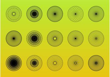 Abstract Circular Designs Set - Free vector #154479