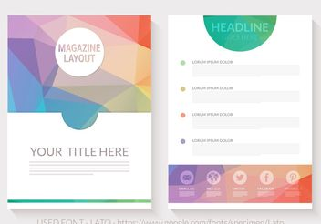 Free Abstract Triangular Magazine Layout Vector - бесплатный vector #154549