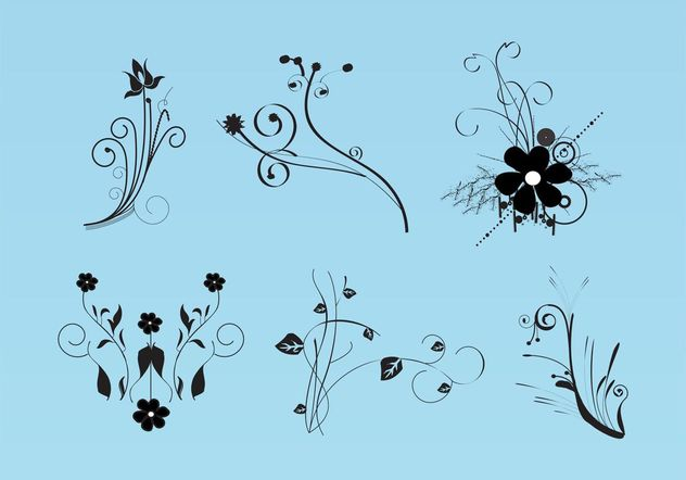 Beautiful Flowers Vector Images - vector #154769 gratis