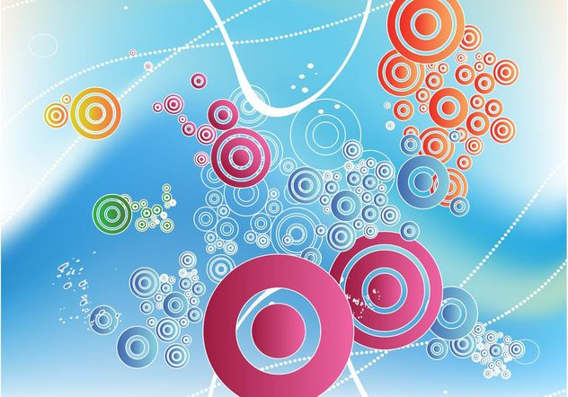 Floating Circles Design - Free vector #154779