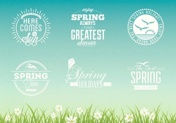 Free Spring Typographic Vector Design Set - Free vector #154789