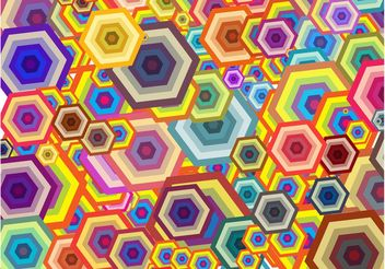 Hexagons Background - vector gratuit #154959