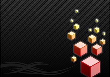Black Background With Cubes - vector gratuit #154979