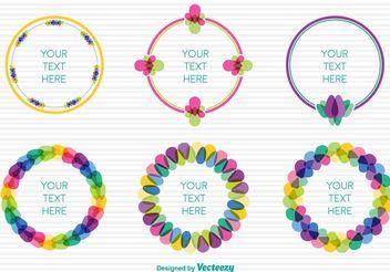 Spring colourful frames - vector gratuit #155069