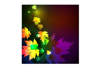 Moonlight Leaves Tile - Free vector #155149