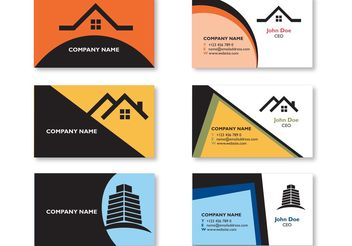 Modern Real Estate Visiting Card Design - Kostenloses vector #155339