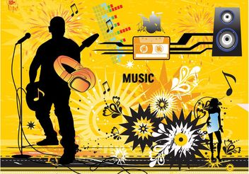 Modern Music Vector Design - Kostenloses vector #155349