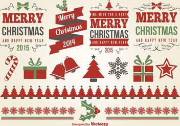 Christmas Design Elements - Free vector #155389