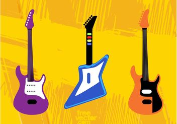 Toy Guitars - vector gratuit #155449