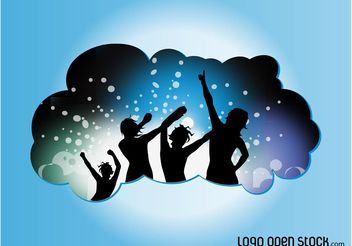 Vector Dance Party - Free vector #155519