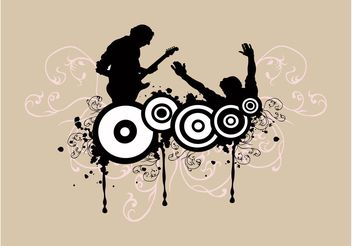 Guitar Player Background - vector gratuit #155529