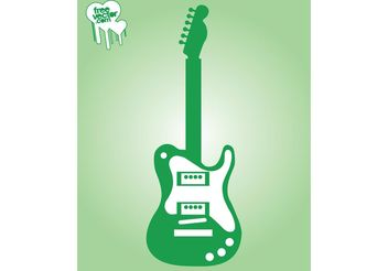 Electric Guitar Vector Graphics - Kostenloses vector #155589