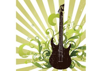 Grunge Guitar - Kostenloses vector #155629