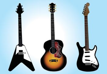 Free Guitar Vector Graphics - Kostenloses vector #155639