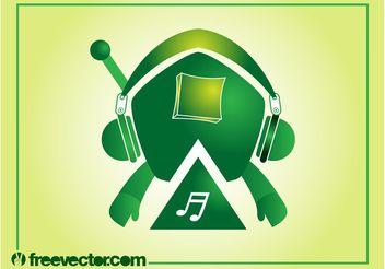 Music Robot Vector - Free vector #155649