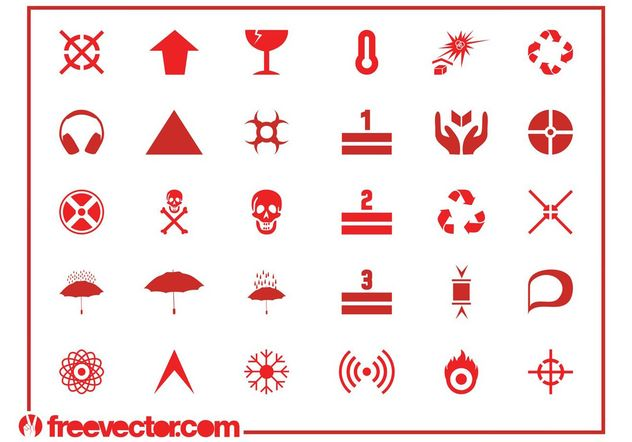 Hazard Symbols And Icons - vector #155679 gratis