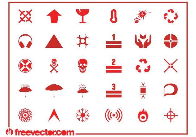 Hazard Symbols And Icons - Free vector #155679