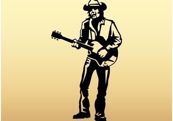 Playing Guitar Vector - vector gratuit #155709