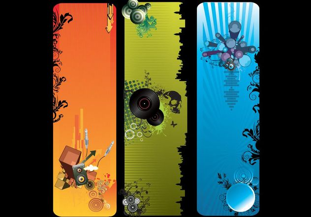 Music Banners - Kostenloses vector #155769