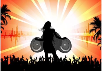 Outdoor Party - vector #155829 gratis