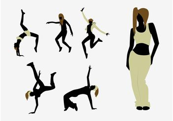 Dancer Silhouettes - Free vector #155859