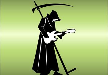 Death Metal - vector gratuit #155879