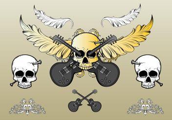 Rock Skull Vector - Free vector #155979
