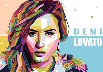 Demi Lovato Vector Portrait - Kostenloses vector #156179