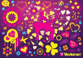 Cool Love Vectors - vector gratuit #156209