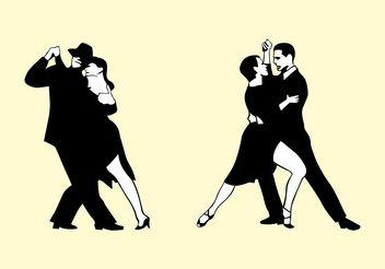 Tango Couples - vector gratuit #156249