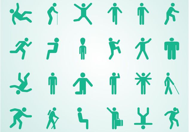 People Pictograms Set - Free vector #156359