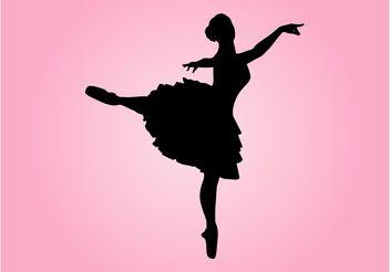 Dancing Ballerina Silhouette - Kostenloses vector #156429